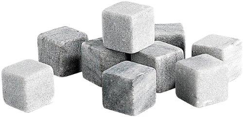 Rosenstein & Söhne Kühlsteine: 9er-Set Dauer-Eiswürfel aus Speckstein, 22 mm (Whiskey Steine)