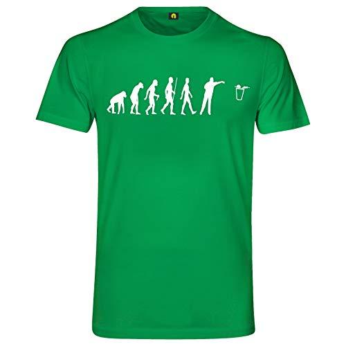 Evolution Bier Pong T-Shirt | Bierpong | Beer | Beerpong | Party | Alkohol Grün XL