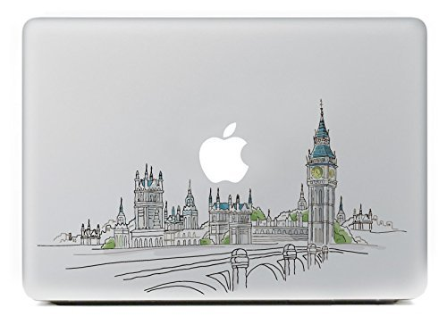 "Vati Leaves Removable Sights of London Best Vinyl Decal Sticker Skin Art Perfect for Apple MacBook Pro Air Mac 11"" inch/Unibody 11 Inch Laptop"