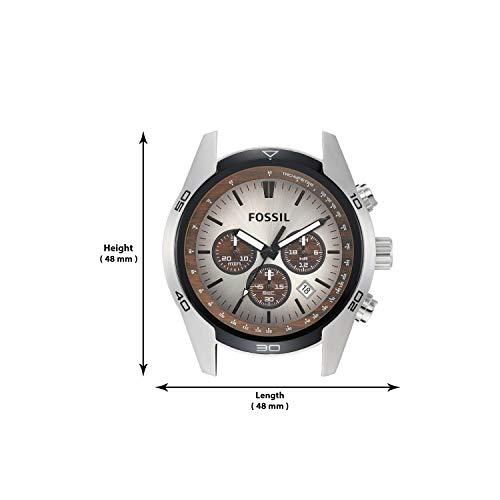 Fossil Homme Chronographe Quartz Montre avec Bracelet en Cuir CH2565