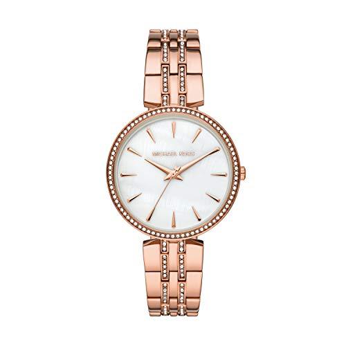 Michael Kors Women's Anabeth Three-Hand Rose Gold-Tone Alloy Watch MK7168
