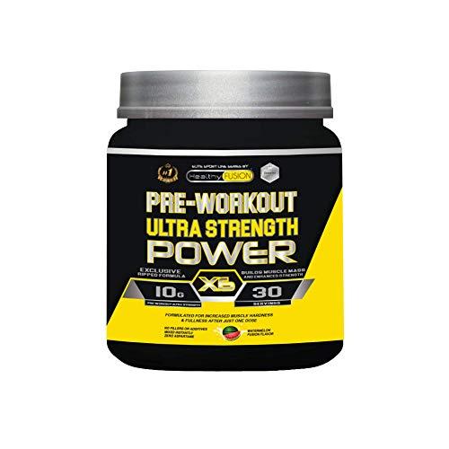 Pre-entreno ultra concentrado | Potente pre-workout con beta alanina + l-arginina AAKG + creatina + cafeína + taurina | Potencia el desarrollo muscular, la resistencia y fuerza | Sabor a sandía