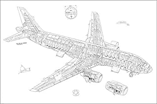 Media Storehouse 12x8 Print of Airbus A320 Cutaway Drawing (4499470)
