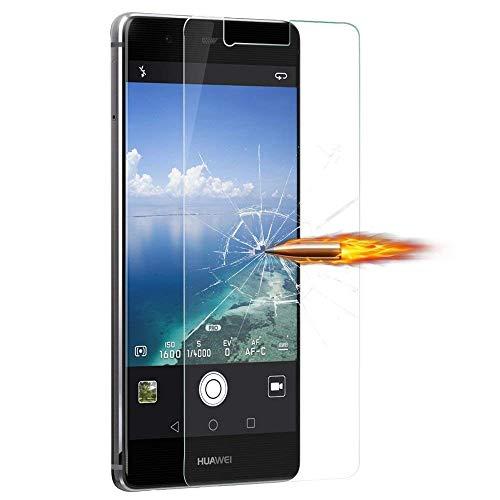 [3 Stück] Huawei P9 Schutzfolie, MaxTeck Gehärtetem Glas Panzersglas Hartglas Displayschutz für Huawei P9 9H Härte, Anti-Kratzen, Anti-Öl, Anti-Bläschen - 5