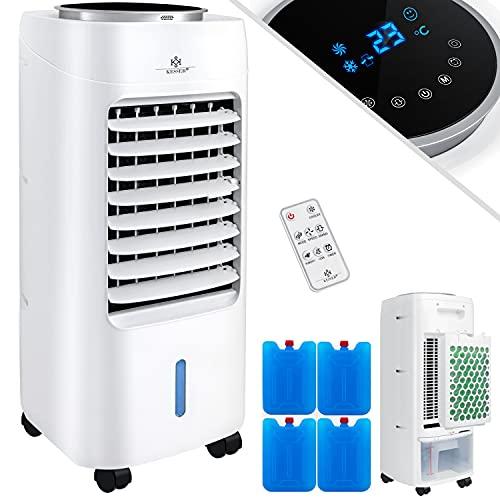 KESSER® 4in1 Mobile Klimaanlage | Fernbedienung | Klimagerät | Ventilator Klimaanlage | 7 L Tank | Timer | 3 Stufen | Ionisator Luftbefeuchter | Luftkühler | White