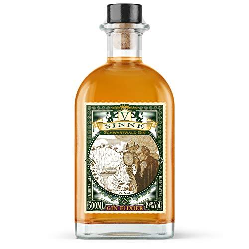 V-SINNE GIN | Gin Elixier – neueste Ginovation auf dem Markt | Basierend auf dem goldprämierten Dry Gin - veredelt mit einer mysteriösen Zutat | Gewidmet Dr. Faust von Goethe | 39% 500ML