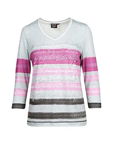 Canyon KAIPA SPORTSWEAR GMBH 957001 - T-Shirt 3/4 Arm 11 silvergrey-pink-auber Gr. 38
