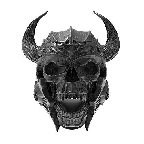 eejart 316L Stainless Steel Skull Ring Knights Templar Helmet Warrior Ring, The Premium Fashion Forward Band Ring for Man (Black, 14)