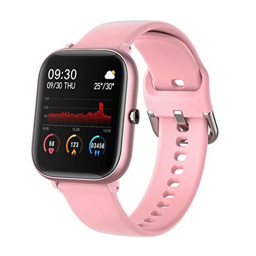 HDDFG Reloj inteligente para pulsera inteligente, resistente al agua, compatible con Android IOS (color: rosa)