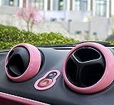 LDXC Accesorios Decorativos 4 Uds Aire Acondicionado Interior Coche Salida Aire Carcasa Decorativa ABS para Nuevo para Smart 453 Fortwo Forfour Accesorio Modificado Estilo Tira Interior Coche