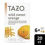 Tazo Wild Sweet Orange Herbal Tea Filterbags 20 ct, Pack of 6
