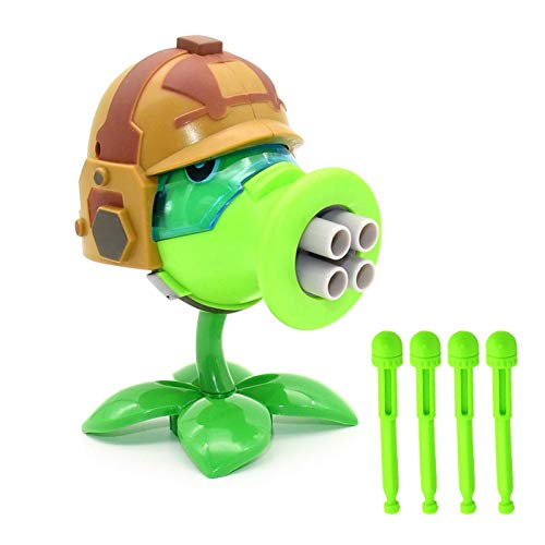 1pcs New Plants Vs Zombies Blowgun Gatling Pea Shooter PVC Action Figure Model Dolls Toy Shooting Toy Kids Gifts for Boys