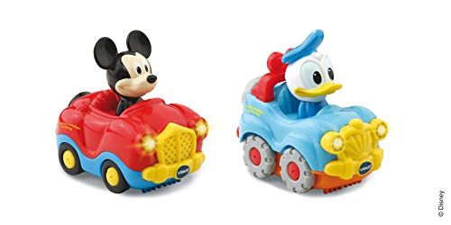 V Tech - TTB - Coffret Duo - Cabriolet de Mickey + 4x4 de Donald - Version FR