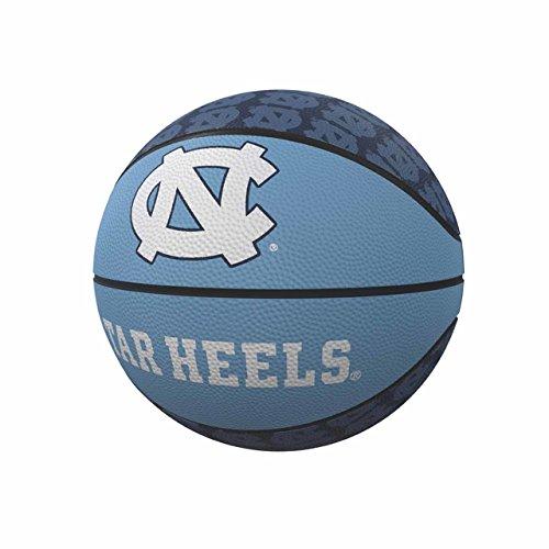 logobrands NCAA North Carolina Tar Heels Unisex Repeating Mini-Size Rubber Basketball, Miniature, Team Color