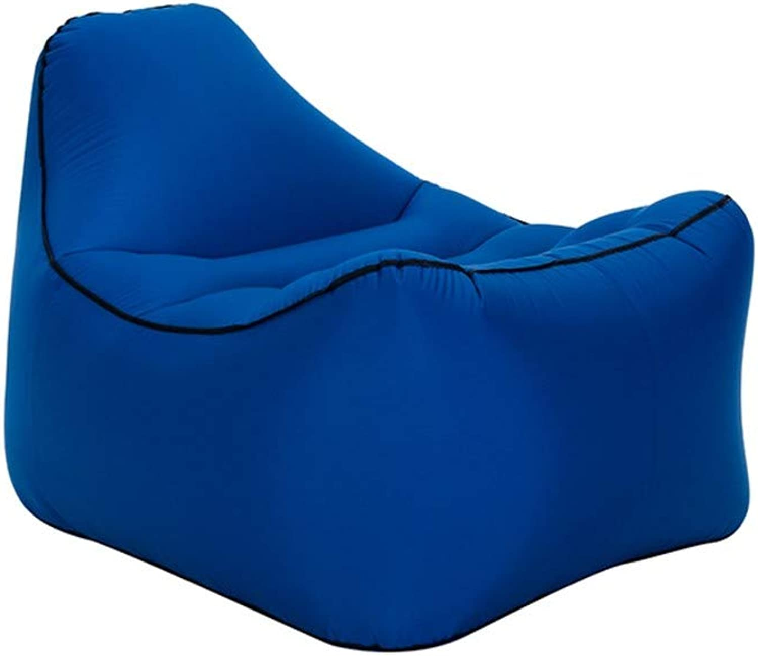 Outdoor Portable Inflatable Lazy Sofa Sheets People Inflatable Bed MoistureProof Floor Mat Water,Navy,Oversized