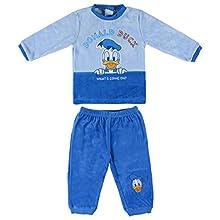 Artesania Cerda Pijama Largo Clasicos Disney Donald Conjuntos, Azul (Azul C37), 24m para Bebés