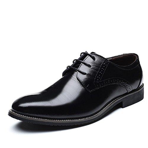Zapatos Oxford Hombre, Brogue Cuero Boda Negocios Calzado Vestir Cordones Derby Negro Marron Azul Rojo Amarillo 37-48EU BK44