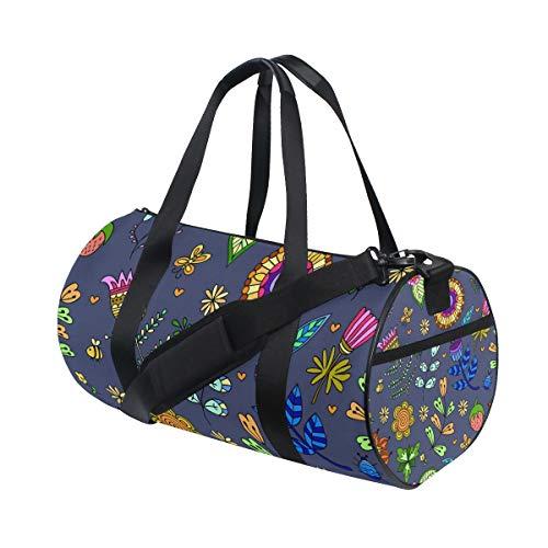 Montoj Seesack, fluoreszierende Farben, Pflanzen-Muster, große Reisetasche