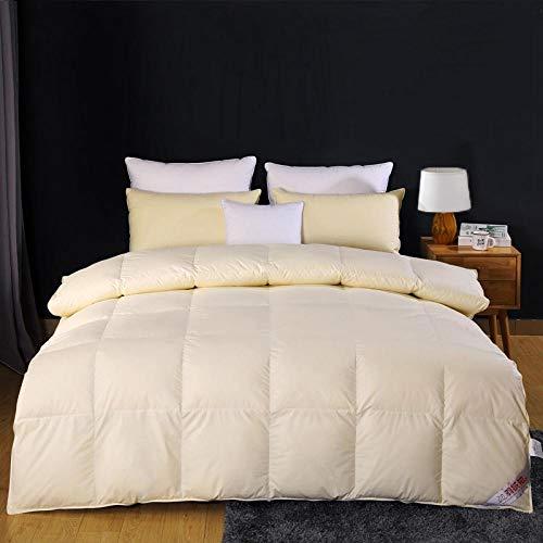 CHOU DAN Hotel duvet 95 white goose down thickened warm winter quilt wedding eiderdown duvet core single double student-220x240cm 5000g_Beige