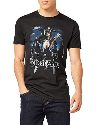 WWE Undertaker Scythe Camiseta, Negro, S para Hombre