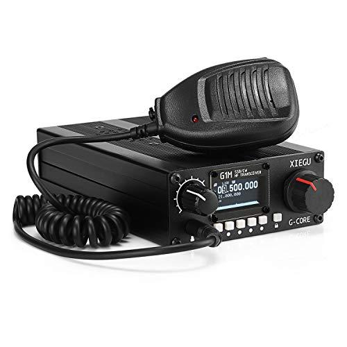 Xiegu G1M Transceptor de HF SDR HF Transceiver Emisoras Radioaficionado QRP Short-Wave 5W SSB CW Mobile Radio Walkie Talkie,Negro