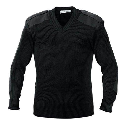 Rothco Acrylic V-Neck Sweater, Black, Medium
