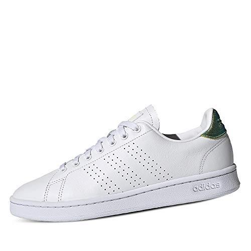 adidas Advantage, Zapatillas de Tenis Mujer, FTWBLA/FTWBLA/AMALRE, 40 2/3 EU