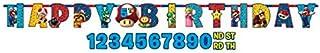 Amscan - Bolsa de regalo para fiesta infantil con temática de Mario Bros, plástico papel vinilo, Multicolor, 10 1/2' x 10