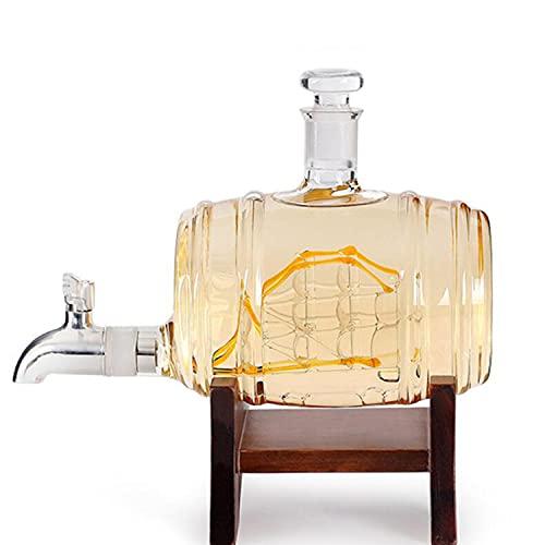 WM Decanter per Whisky, Bicchiere da Vino Artigianale in Stile Fashion per la Famiglia, L'Ufficio, Il Regalo di Decorazione del Ristorante,Clear