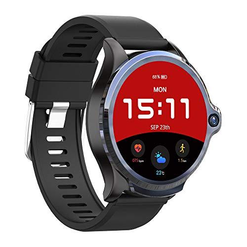 HLDUYIN Smart Watch Fitness Touchscreen IP67 wasserdichte Multifunktionsuhr Mit Herzfrequenz-Schrittzähler Schlafstoppuhr Mit 8,0 MP Kamera Für Männer Und Frauen,B