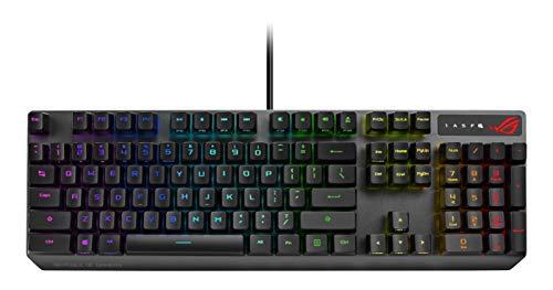 ASUS ROG Strix Scope RX Tastiera Gaming RGB per Giocatori FPS, con Interruttori Meccanici Ottici ROG RX, RGB, Resistenza ad Acqua e Polvere IP56, Layout ITA