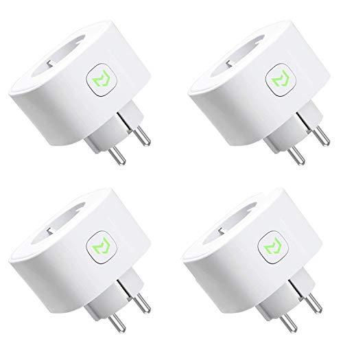 Meross Smart WLAN Steckdose, Alexa Intelligente Plug, 4er Pack, Kompatibel auch mit Google Home und SmartThings