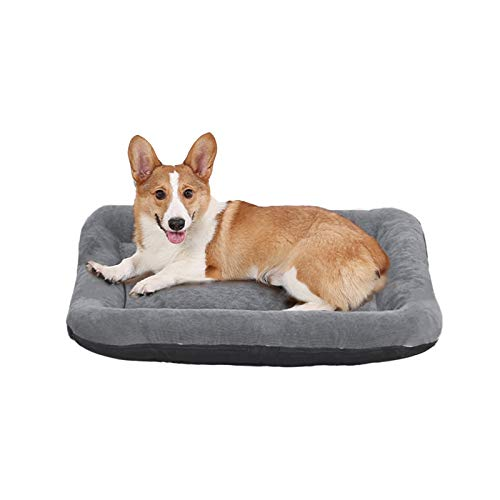 KALINCO Dog Bed, Dog Crate Bed for Medium Dogs, Anti-Slip Washable Pet Mattress with Removable Cover for Dogs & Cats