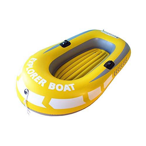 Barca Hinchable 1-2 Persona 110 Kg Capacidad de Carga de la bomba de mano con amarillo barco inflable 188x114cm for principiantes y profesionales Bote Inflable ( Color : Yellow , Size : 188x114cm )