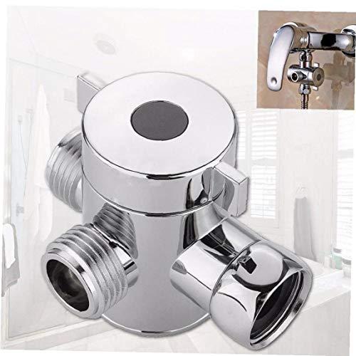 CULER 1/2 Zoll Badezimmer Dreiweg-T-Adapter T-Anschluss Ventil für WC Bidet Duschkopf Umschaltventil Duschkopf Shunt