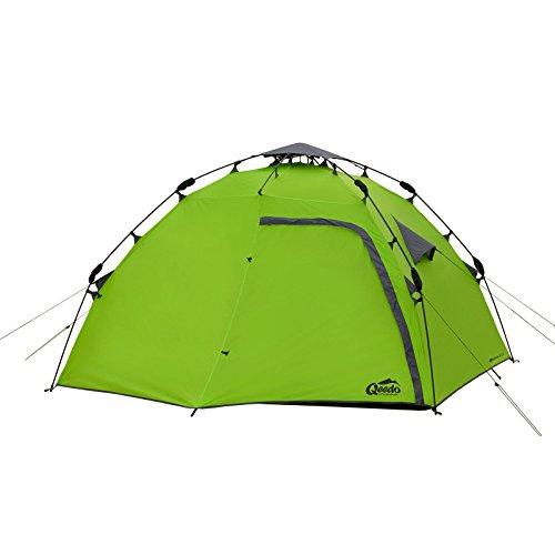 Qeedo 4 Mann Sekundenzelt Quick Maple 4, Campingzelt mit Quick Up System, Innenhöhe: 140 cm - Grün