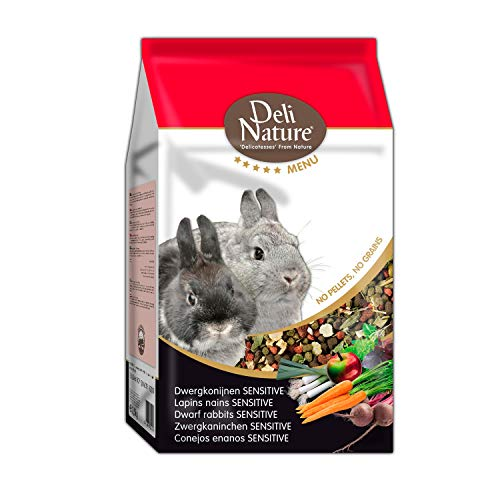 DELINATURE Mixtura para Conejos Enanos SENSITIVE, Menú 5*