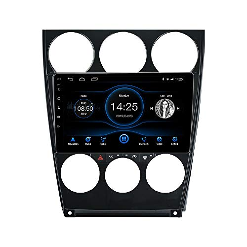LEXXSON Android 10.1 Double Din Car Radio Stereo for Mazda 6 Atenza 2002-2008, 10.1 inch Capacitive Touch Screen High Definition Head Unit, with Mirror Link GPS Navigation Build-in Bluetooth Player
