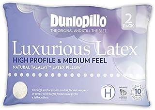 Dunlopillo 2 Pack Luxurious Latex High Profile Pillow (Medium Feel)