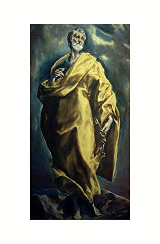 El Greco - Heiliger Apostel Petrus um 1610/12 Print 61x91.5cm