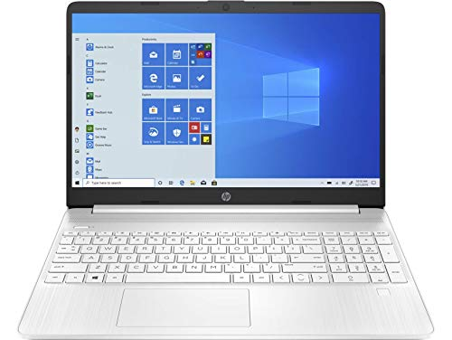 "HP 15s-eq1026ns - Ordenador portátil de 15.6"" HD (AMD Ryzen 3 3250U, 8 GB RAM, 512 GB SSD, AMD Radeon, sin sistema operativo) blanco - Teclado QWERTY Español"