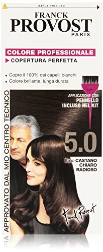 Franck Provost Set 6 Tinte Per Capelli Tonalità 5.0 Castano Chiaro Radioso - 1000 Gr