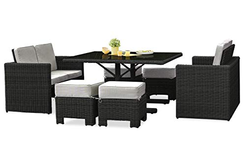 DCB GARDEN Oceane-Lunch Ensemble Repas encastrable, Anthracite