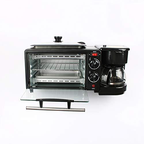 GTJXEY Máquina de Desayuno para el hogar, multifunción, Tres en uno, Mini Horno eléctrico portátil, Tortilla de café, tostadora de sándwich de Pan