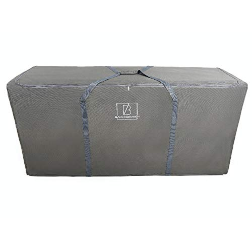 Barlborough Garden Cushion Protective Storage Bag Cover | Large 160 x 50 x 75cm | Outdoor Furniture Sofa Cushions Grey