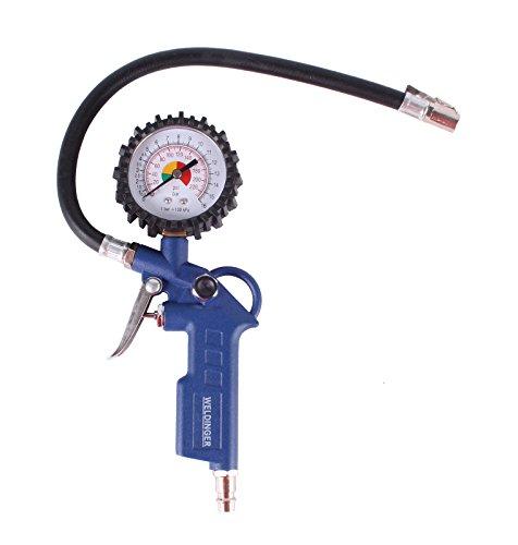 WELDINGER Druckluft-Reifenfüller mit Schlauch und Manometer