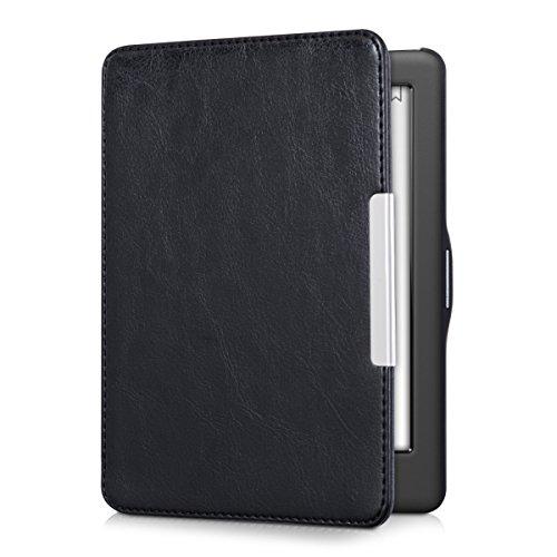 kwmobile Funda Compatible con Kobo GLO HD/Touch 2.0 - para e-Reader de Cuero sintético - Case en Negro