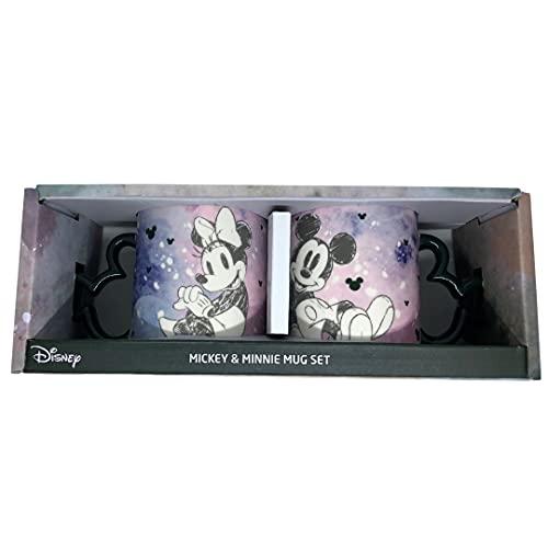 Set de tazas de Mickey y Minnie con asa en forma de Mickey