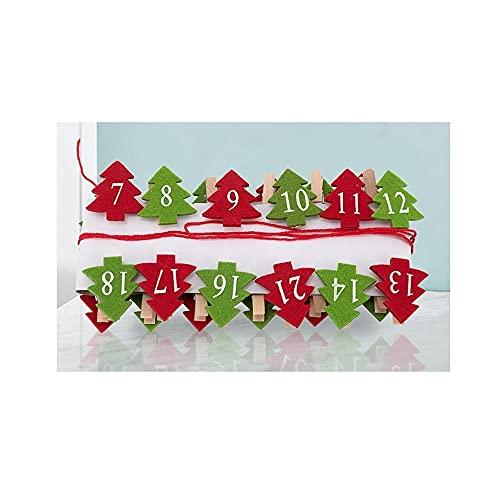DWAC 1-24 Pinzas de Madera Digital, Manualidades De Modelos Únicos para Árboles De Navidad, Foto y Dibujo Artesanías de Papel, Clips a Prueba de Viento, Clavijas De Ropa
