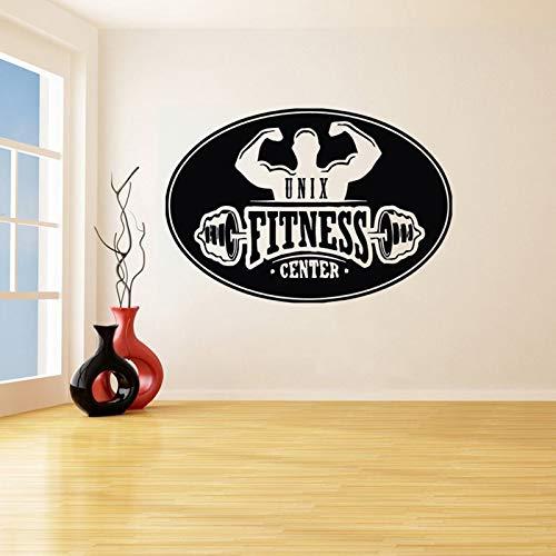 hetingyue Spieren mannen Muursticker Sport Muurtattoo Fitness Center Vinyl Muurkunst Poster Decoratie